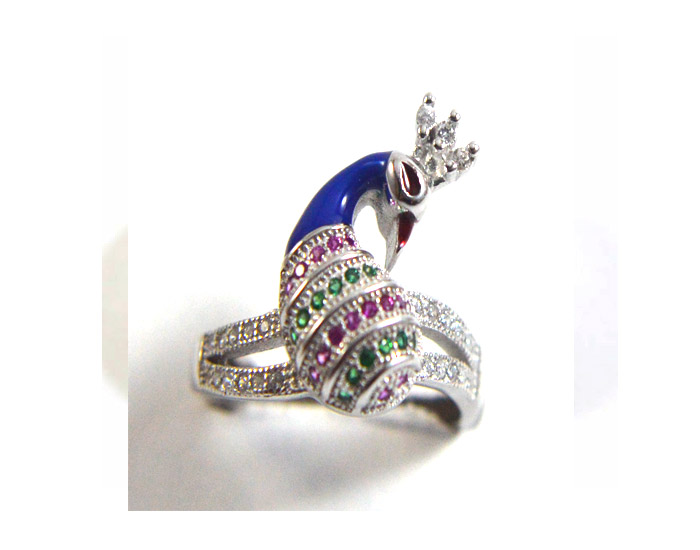 Peacock Ring-Iota Collection