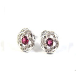 Iota Collection Sterling Silver Studded Earring