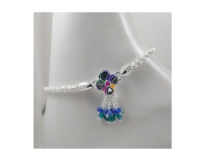 Iota Collection Silver Anklet-CB27122018POAK04930XXXX005